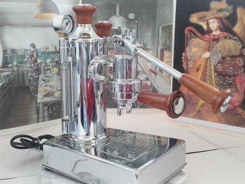 RARE Zacconi Riviera baby chrome WOOD luxury lever espresso machine 220V 110V b6