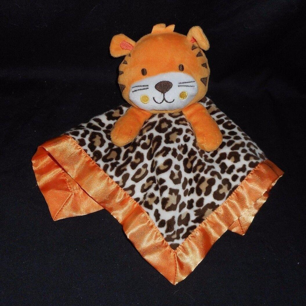GARANIMALS orange BABY TIGER LEOPARD SECURITY BLANKET STUFFED ANIMAL PLUSH TOY