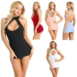 Summer-Sexy-Women-Ladies-Halter-Backless-Bodycon-Mini-Party-Dress-Clubwear-US