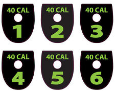 SIG P320 / P250  40 CAL MAGAZINE BASE PLATE STICKERS LIME Set of 6