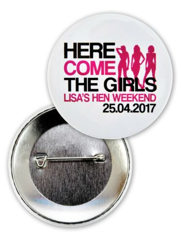 PERSONALISED HEN NIGHT BADGES HEN PARTY BADGES PIN BACK HEN NIGHT BADGES HEN DO