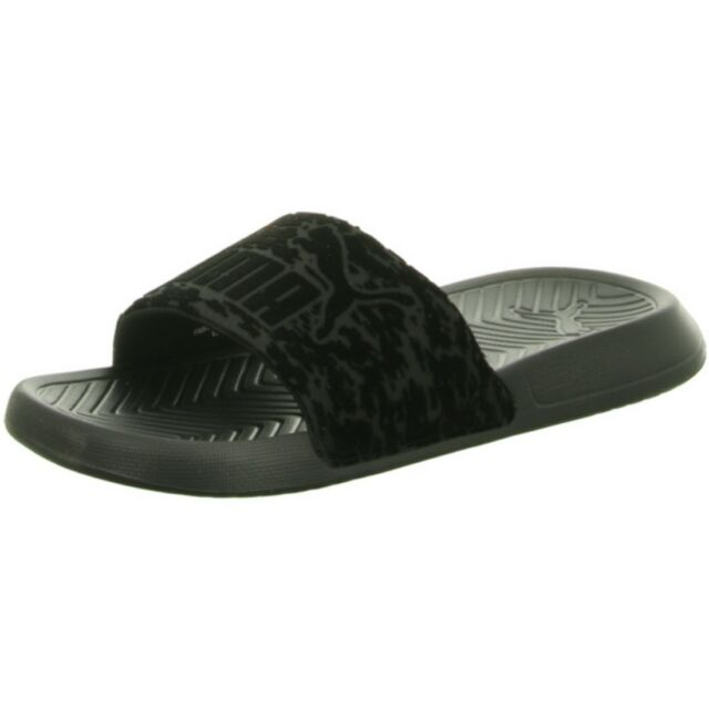 0bc0dfa44 PUMA Popcat VR Slip on Womens Black Synthetic Rubber Flip Flops ...
