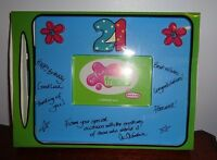 Molly'n Me Design Your Own Autograph Blue Frame 21 - - Photo Size 4x6