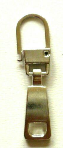 Zupfer,Ersatz-Zipper für Reissverschlüsse silber 347B Fashion Zipper