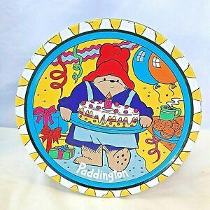 Fun 1992 PADDINGTON BEAR COOKIE TIN. Baker Large Colorful, birthday COLLECTIBLE