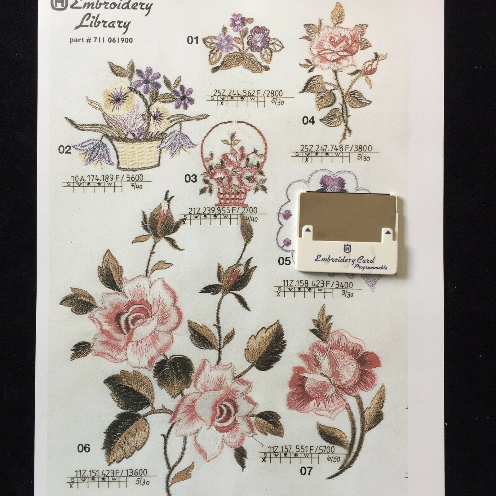 Flowers Roses Embroidery Designs Card For Husqvarna Viking Embroidery Machines For Sale Online