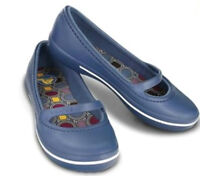 Crocs Crocband Winter Flat Mary Jane Blue 9 In Box