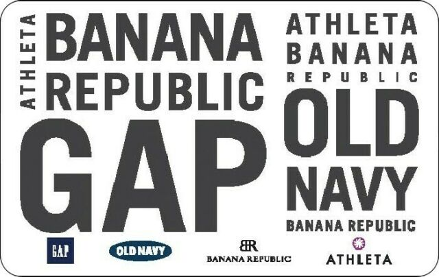 $6 GAP BANANA GIFT CERTIFICATE EMAIL DELIVERY