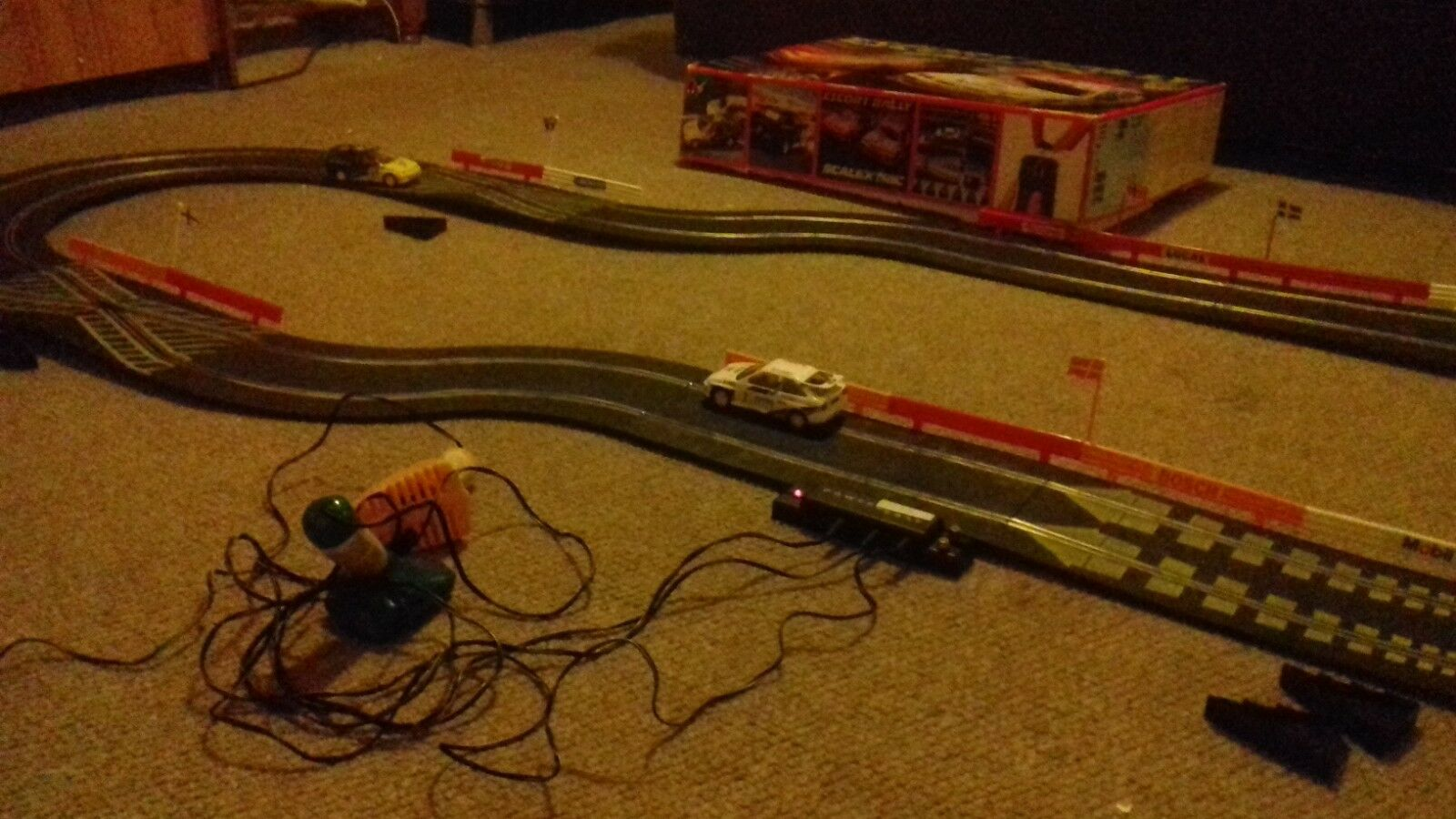 Escort rally scalextric cars complete set for