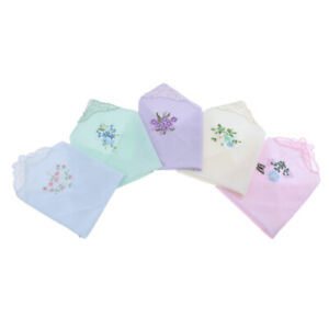 NEW-WOMENS-LADIES-EMBROIDERED-LACE-HANKIES-HANKERCHIEFS-PACK-OF-5-GIFT