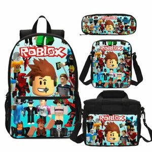Jurassic Park Backpack Kids 3PCS School Bag Set Boy Gaming Bookbag Lunch Bag Lot