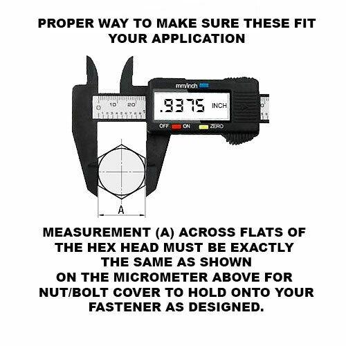"12 Pack Chrome Spike Tire Wheel Hex Lug Nut Press On Covers Car /& Truck 15//16/"""