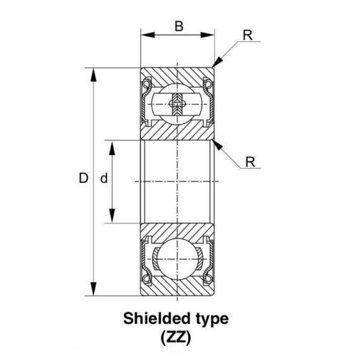 8x 6208-ZZ Ball Bearing 40mm x 80mm x 18mm Double Shielded Metal Seal NEW