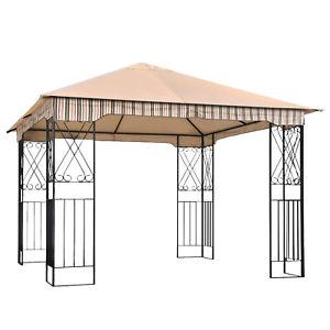 ABCCANOPY-Garden-Gazebo-Replacement-Canopy-10-039-x-10-039-Soft-Top-for-10-039-x-10-039-Roof
