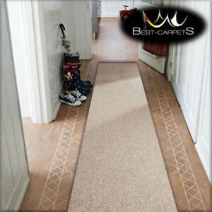 pas cher tapis couloir moderne beige largeur 140 - Tapis Couloir Pas Cher