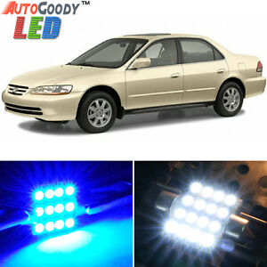TOOL 15 x Ultra Blue Interior LED Lights Package For 2002-2006 Nissan Altima