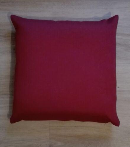 Dekokissen Kissen Sofakissen Nancy einfarbig weinrot 40 x 40 cm 100/% Polyester