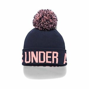 0334ccb376 Image is loading Under-Armour-Accessories-Armor-Womens-Graphic-Pom-Beanie-