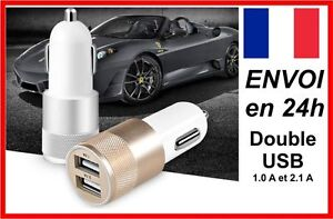 CHARGEUR-USB-3-1A-VOITURE-DOUBLE-2-PORTS-ALLUME-CIGARE-ANDROID-APPLE