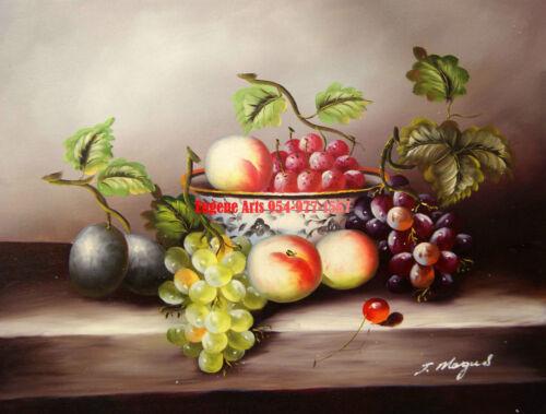 "50/% OFF,Still life//Wine Bottle//Fruit 31x41cm 100/% hand painted oil flat 12x16/"""
