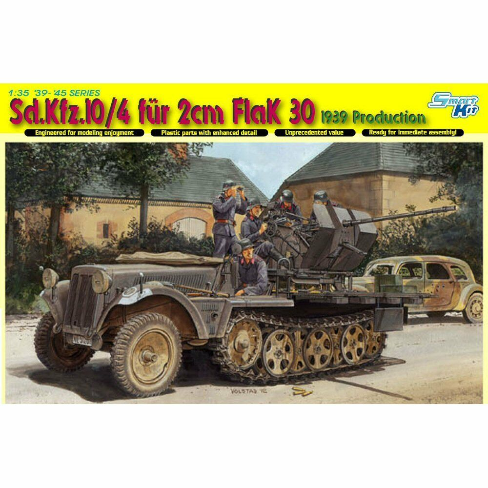 Dragon 6739 SdKfz 10 4 fur 2 cm FlaK 30 1 35 scale plastic model kit