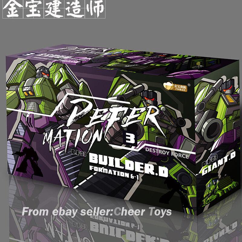 JINBAO un embalaje Devastator Decepticons de gran tamaño de Excavadora Excavadora de juguete