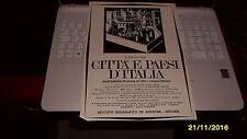 Advertising Italian Pubblicità 1966: CITTA' e PAESI D'ITALIA De Agostini