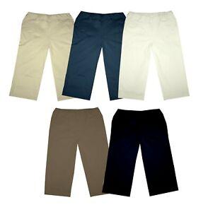 Damen-3-4-Capri-Sweat-Hose-Caprihose-Sporthose-Hose-Freizeithose-Fitnesshose