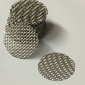 50-COUNT-Stainless-Steel-T304-Wire-Mesh-Screen-Filter-Discs-3-4-034-MADE-IN-USA