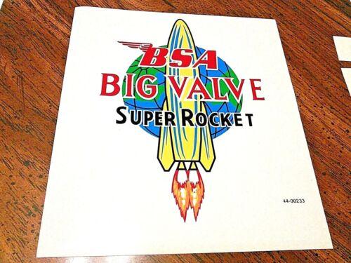 BSA Big Valve Super Rocket top tank transfer decal sticker 1960-63 42-8122 A10SR