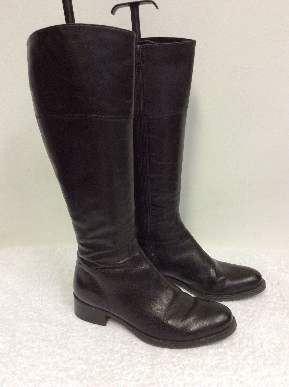 JANE SHILTON DARK BROWN LEATHER KNEE LENGTH LENGTH LENGTH BOOTS SIZE 3.5 36 29634d