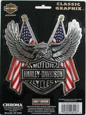 harley davidson motor cycle bike decal sticker HD truck car chrome eagle flag US