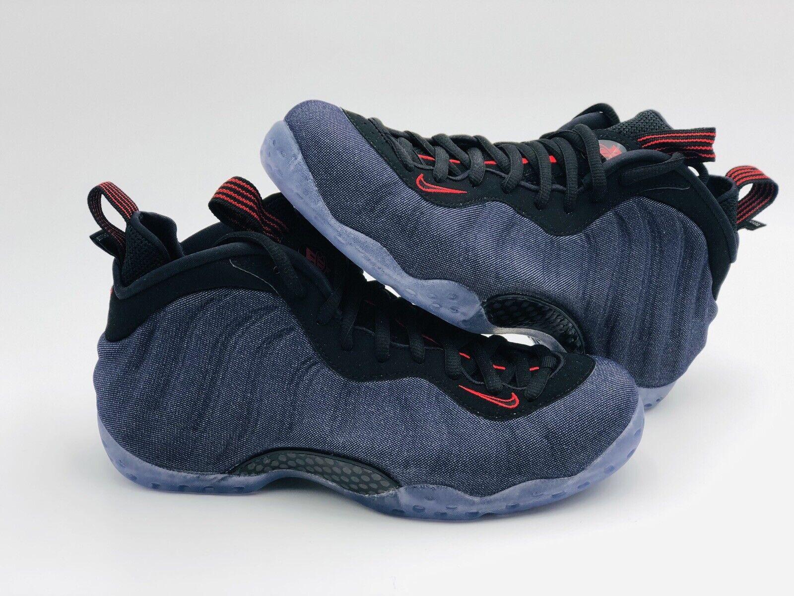 Nike Air Foamposite One Denim bluee Black 314996-404 Men's Size 8.5 New Deadstock