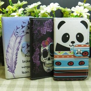 Details about Fly Feather Panda Skull Wallet Kickstand Flip case cover for  Sony Xperia Phone