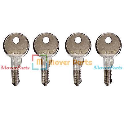 Mover Parts 10 Ignition Keys 455 for Scissor Lift Boom Lifts Genie Skyjack Terex Snorkel Manlift Upright