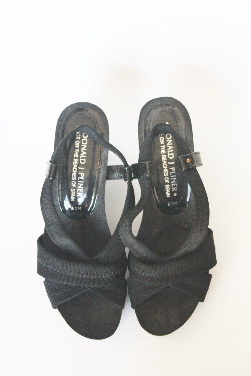 DONALD J PILNER JEMM STRETCH WEDGE SANDALS 6.5  178 Shoes Platfrom Cork Heels Shoes 178 6fabcb
