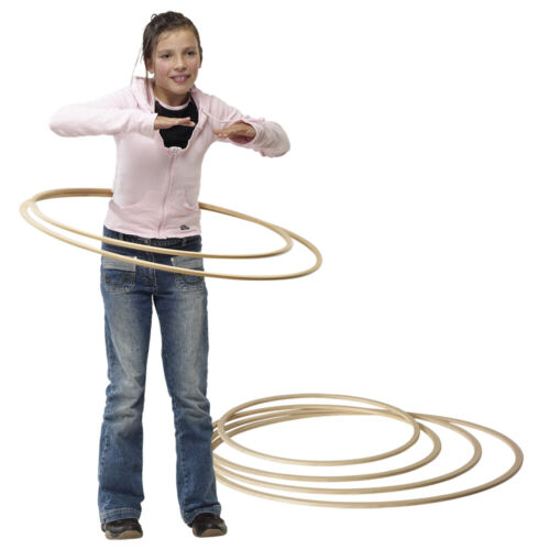 Grevinga® Gymnastikreifen aus Holz 112029-30 Hula-Hoop;