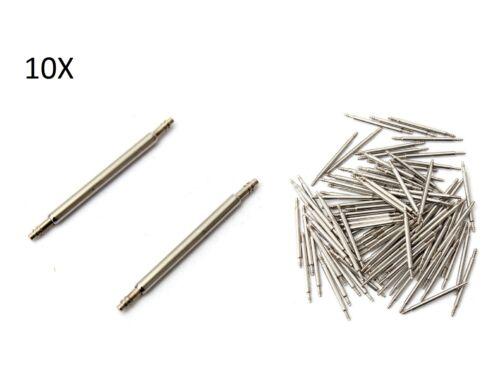 10X PERNI 24mm RICAMBIO PER CINTURINI OROLOGI anse acciaio orologio riparazione
