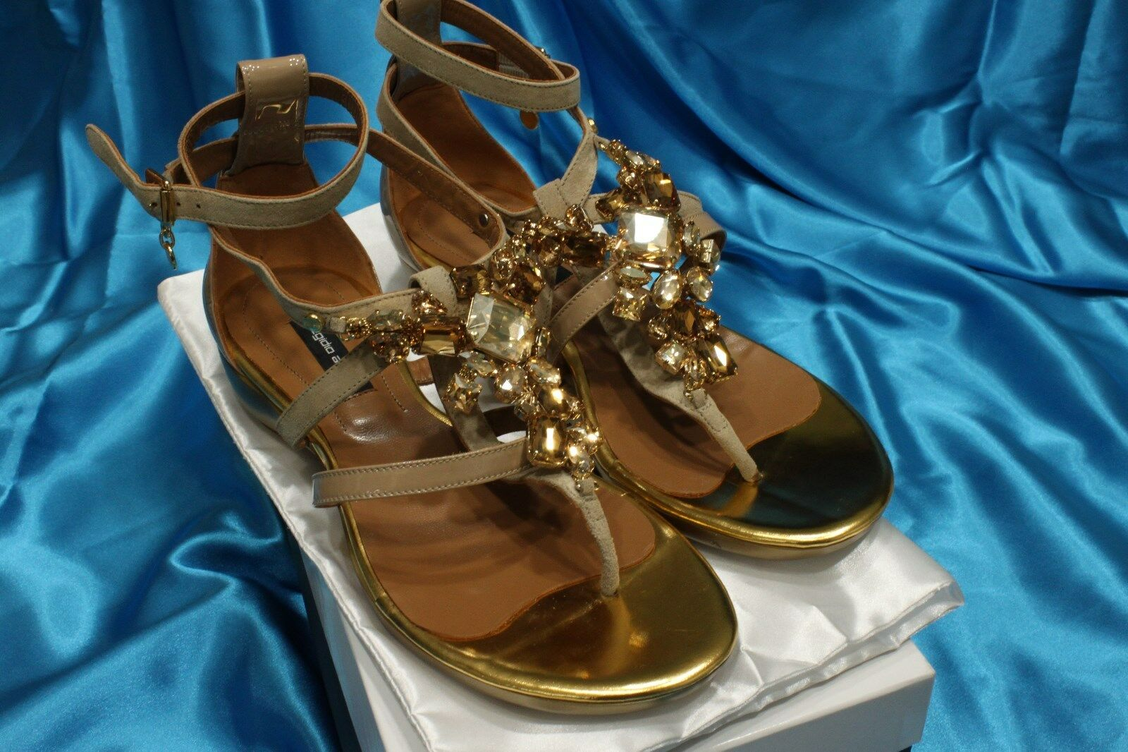 Sandalias Planas Con Con Con Cristales-UE tamaño 38 o 39 por Egidio Alves Nuevo Diseñador  los nuevos estilos calientes