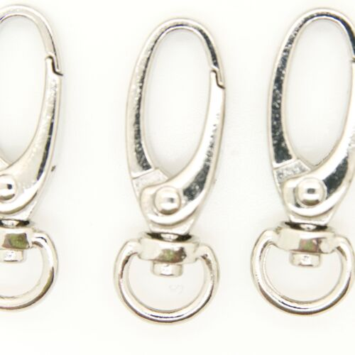 """SILVER 37mm SIZE FOR BAG//STRAP 100 PC METAL OVAL LOBSTER SWIVEL CLASP 1.5/"""""""