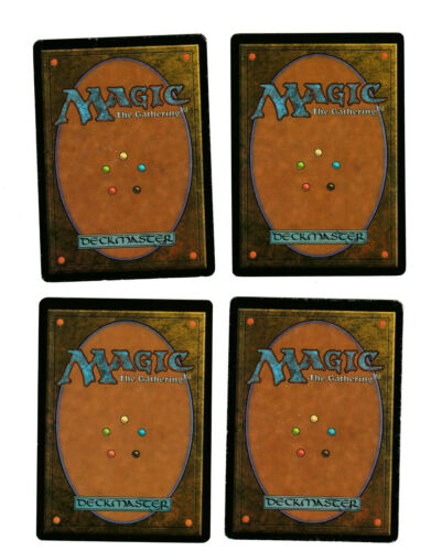 4x Channel Played Revised 3rd Edition Mtg Magic EDH 4x x4