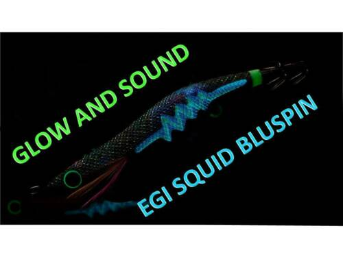 NEW BLUSPIN EGI SOUND RATTLE SQUID JIG SEPPIE CALAMARI 3.0 15gr COL.16Y-11PGN