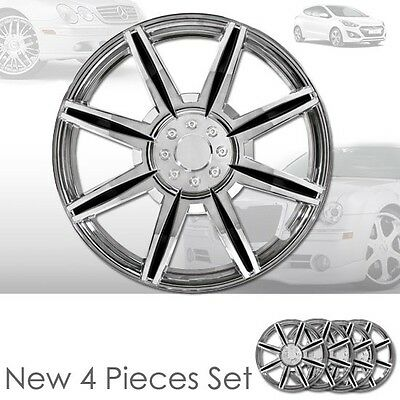 New 15 inch ABS Chrome Hubcaps Wheel Rim Covers Hubcaps Set 541 For Hyundai