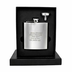 Personalised-Engraved-Stainless-Steel-6oz-Hip-Flask-Funnel-and-Moulded-Gift-Box