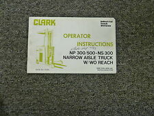 s l225 clark np300 narrow aisle forklift 120rec ebay  at bayanpartner.co