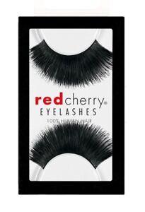 Red-Cherry-HAZEL-199-falsche-kuenstliche-schwarze-Echthaar-Wimpern-strip-lash