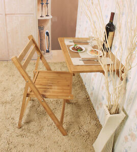 Sobuy tavolo da muro pieghevole 60 40cm senza sedia bamb fwt031 n it ebay - Tavolo da muro pieghevole ...