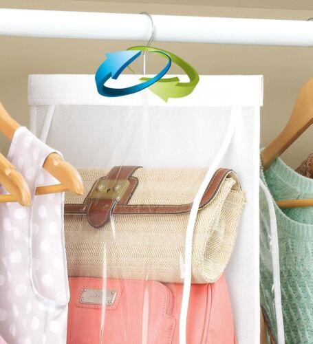 8 Pocket Purse Organizer Storage Rack Closet Handbag Hanging Wardrobe Space Safe