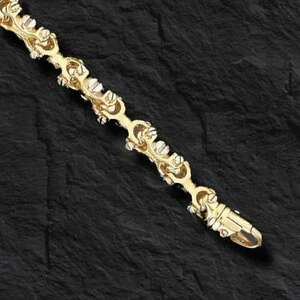 14kt-Solid-Gold-Men-039-s-Equestrian-Link-Bracelet-8-034-9MM-47-grams