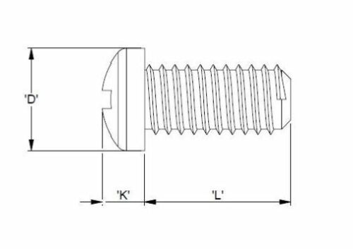 Kunststoffschraube M3 8mm Kreuzschlitz DIN EN 34812 10 Stück